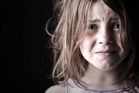 scared little girl