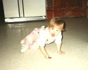 Baby on the floor